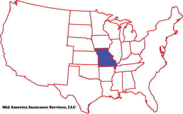 Mid America Insurance Services on US map